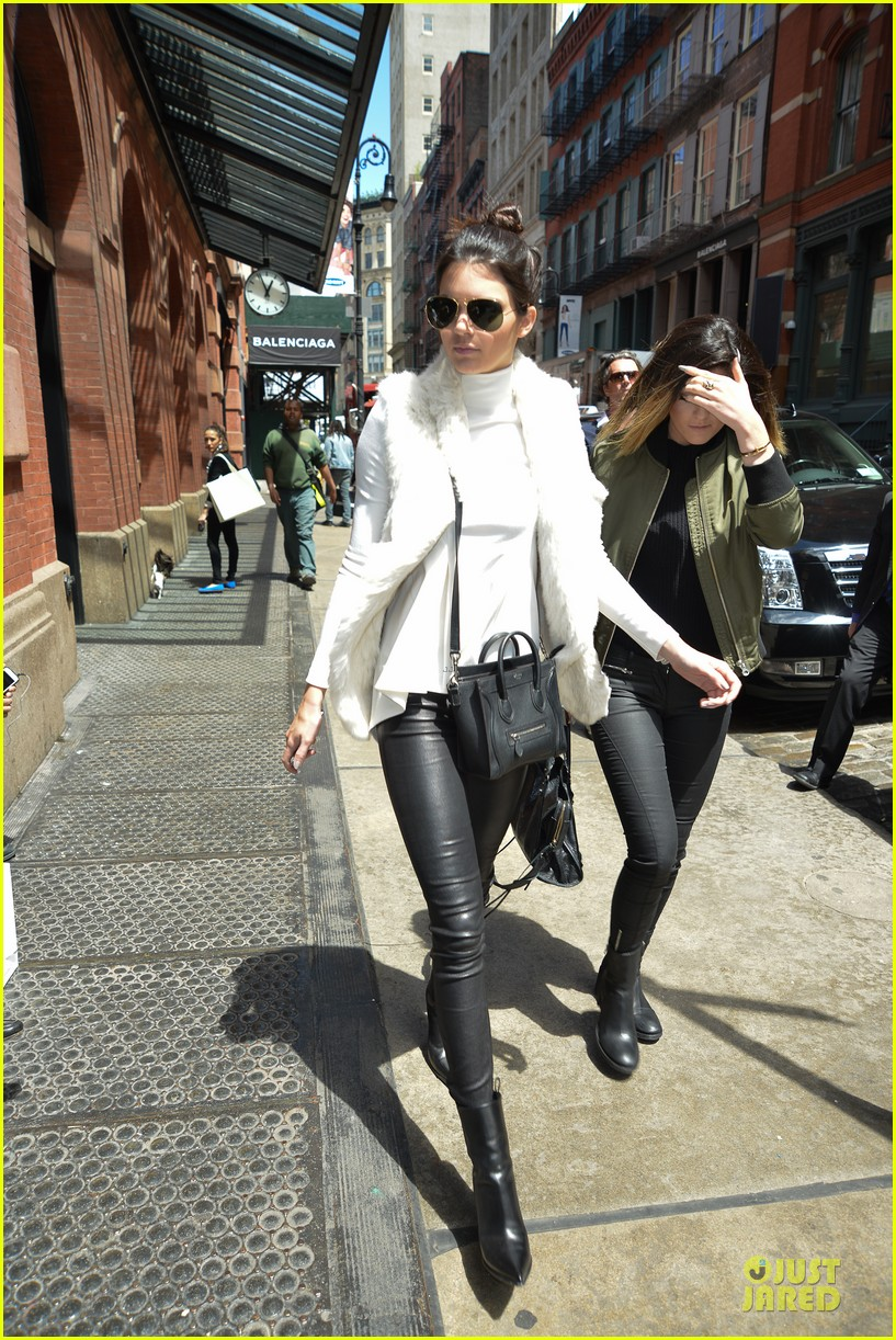 kendall kylie jenner boots in soho 10