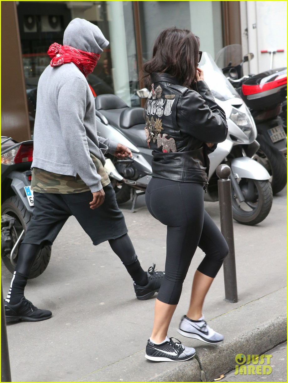 kim kardashian kanye west cover up their faces 18