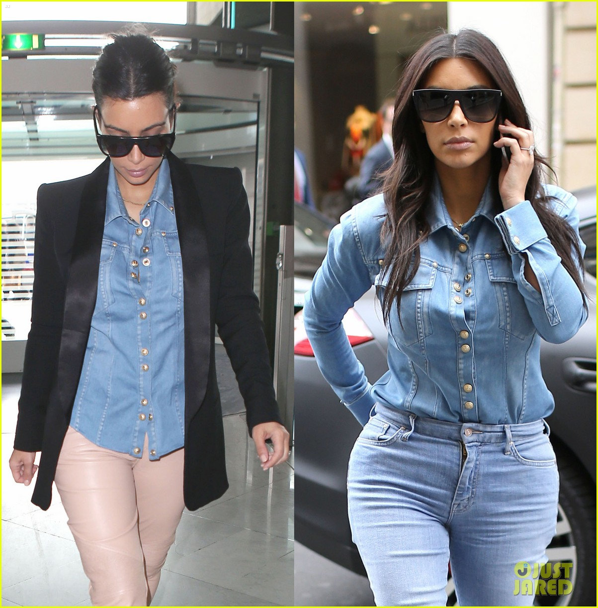 kim kardashian wears same shirt two days in a row after wedding dress shopping 02