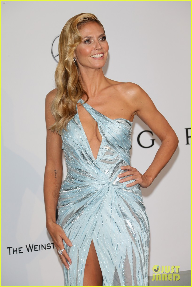 heidi klum rocks high slit dress at cannes amfar gala 2014 11