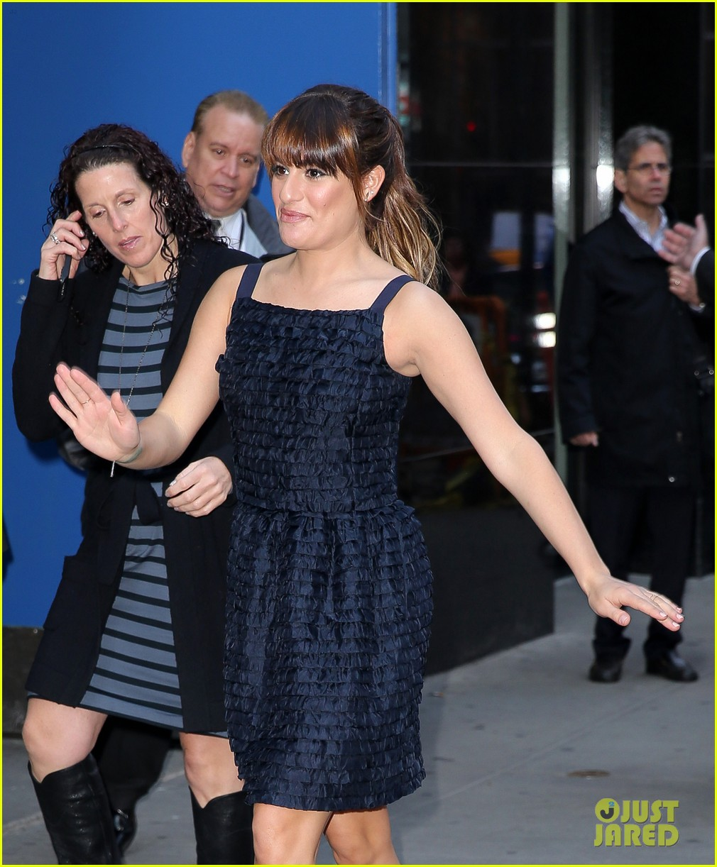 lea michele brunette ambition talk gma 08