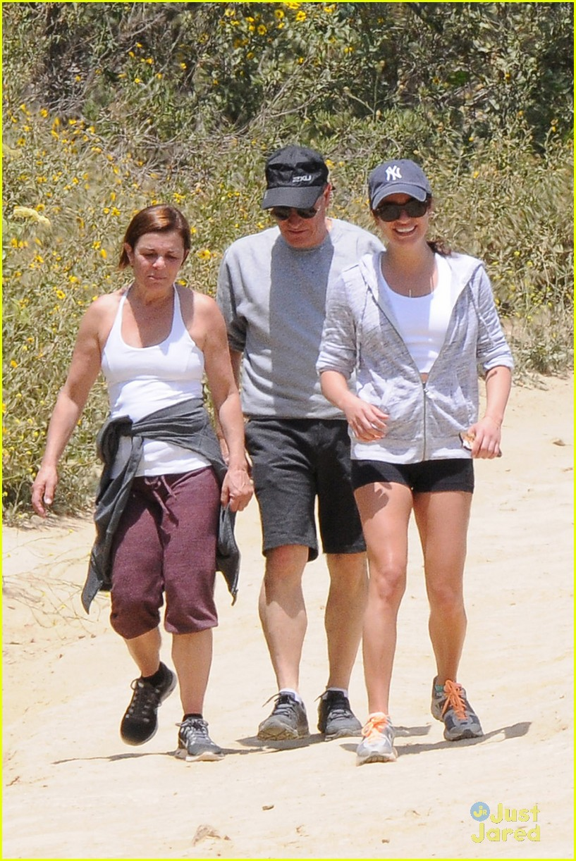lea michele hike parents funny girl 183109898