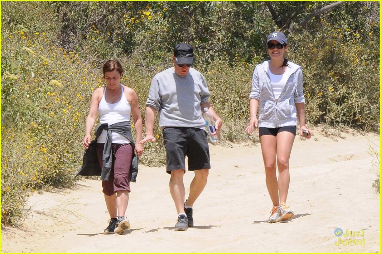 lea michele hike parents funny girl 253109905