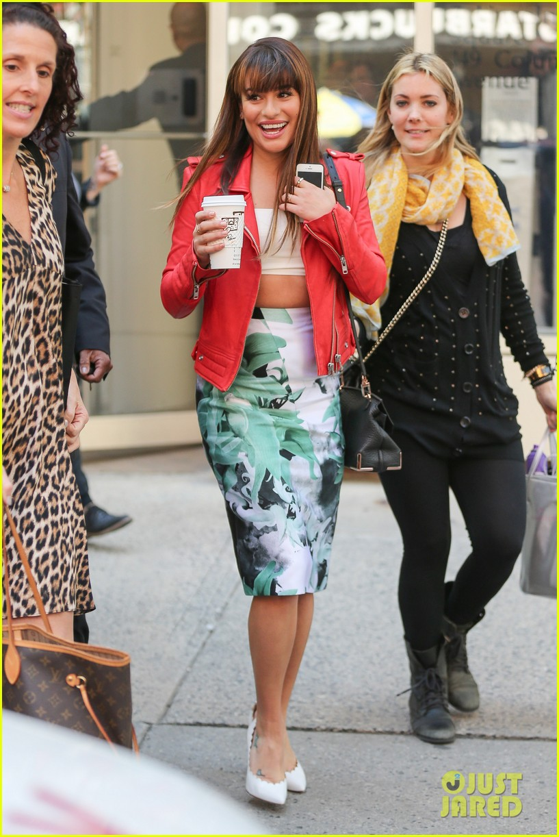 lea michele ny press rounds 15
