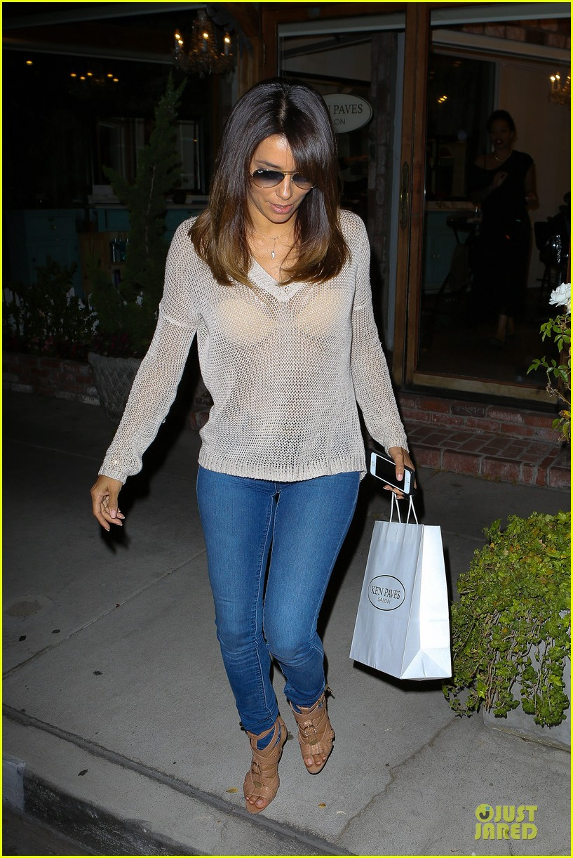 eva longoria flashes bra in see through top 033110683