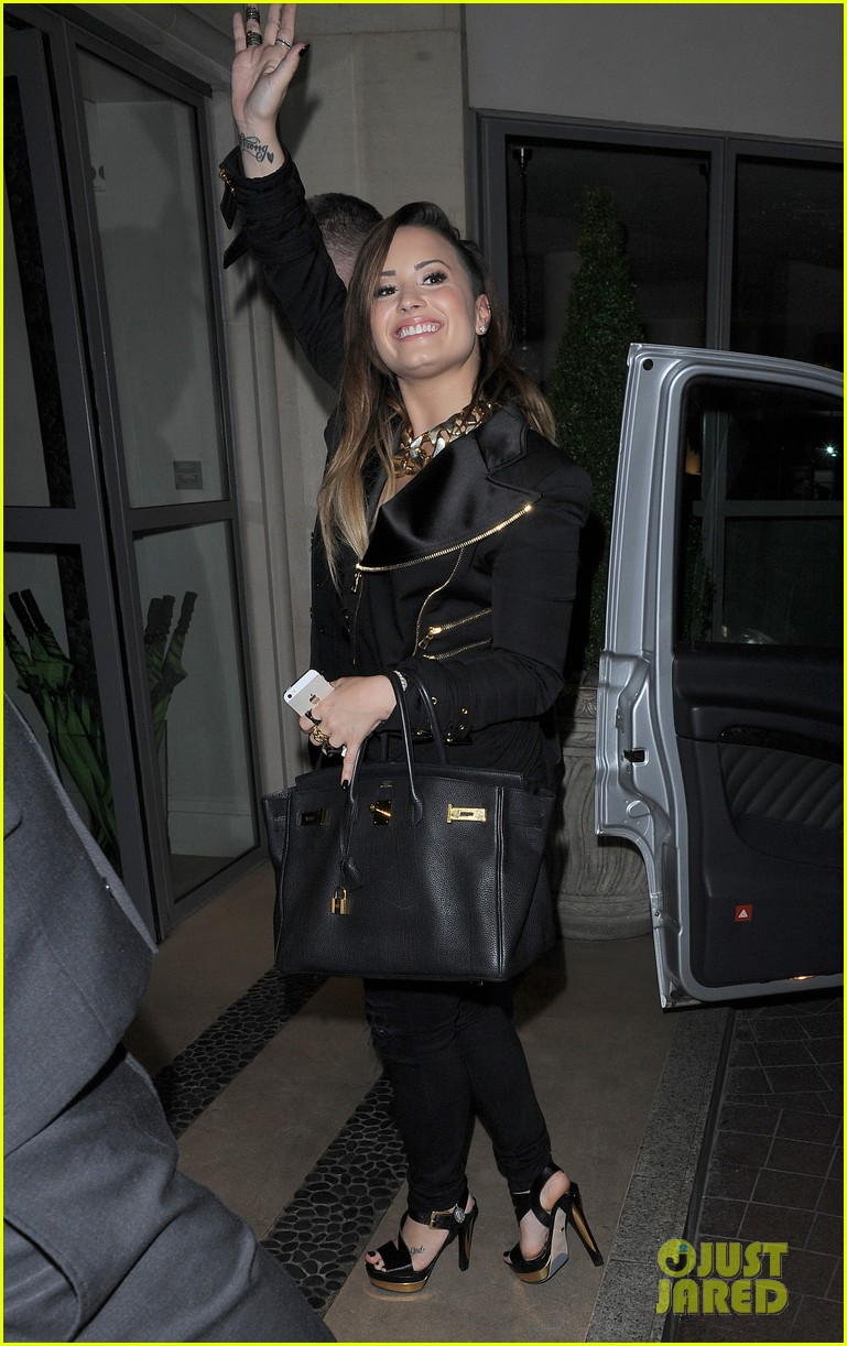 demi lovato waves fans hotel 12