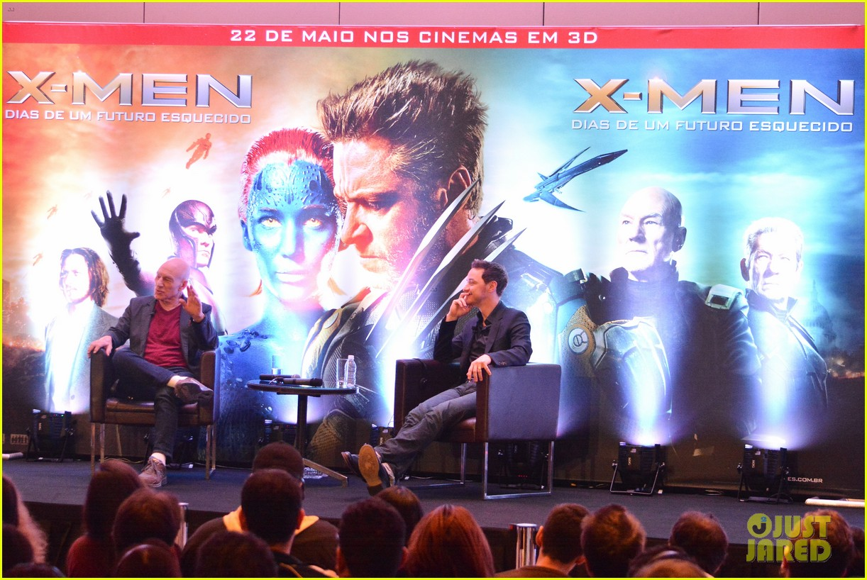 james mcavoy joins patrick stewart in sao paulo for x men press 103113896