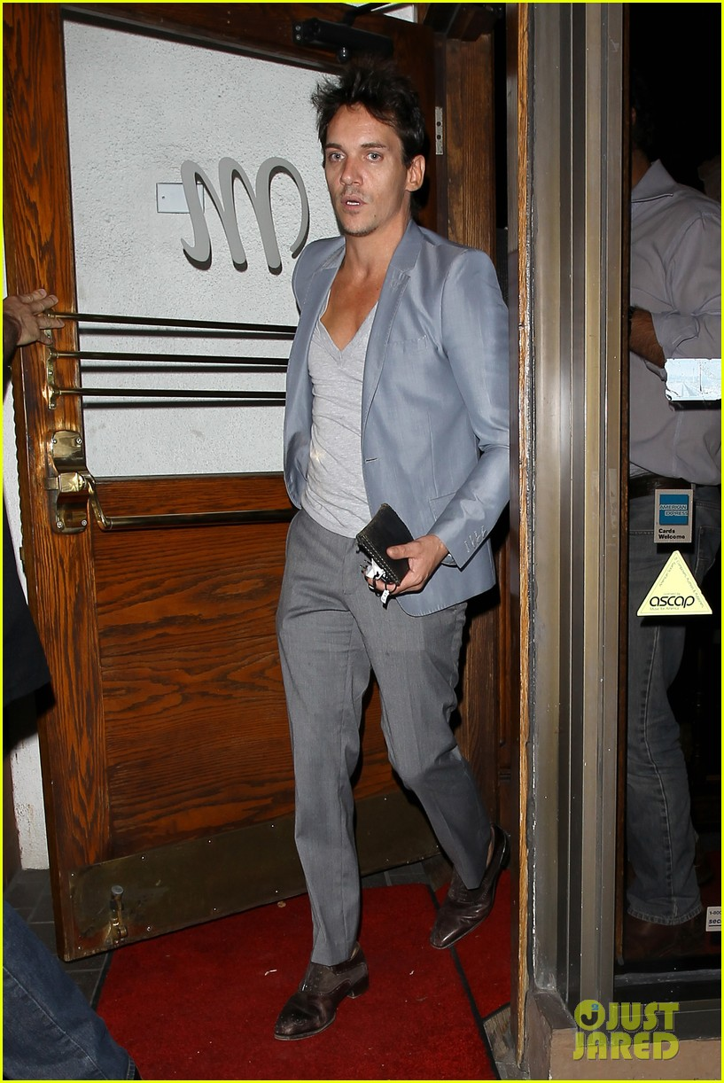 jonathan rhys meyers wears a deep v neck t shirt displays some chest 05
