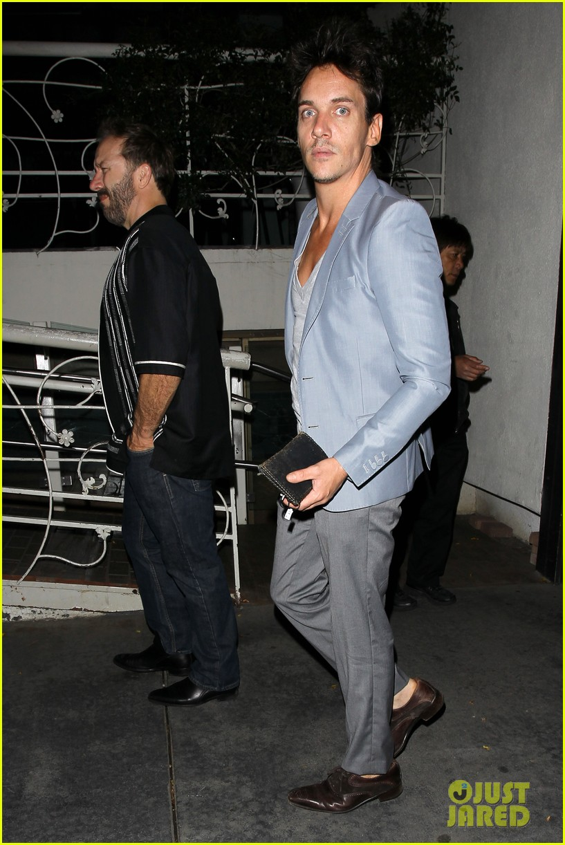 jonathan rhys meyers wears a deep v neck t shirt displays some chest 15