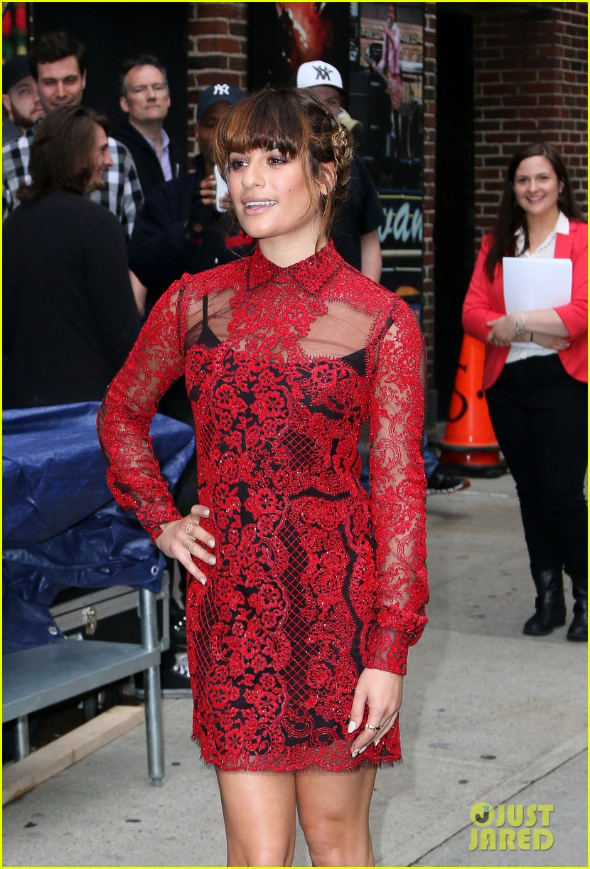 lea michele late show with david letterman 02