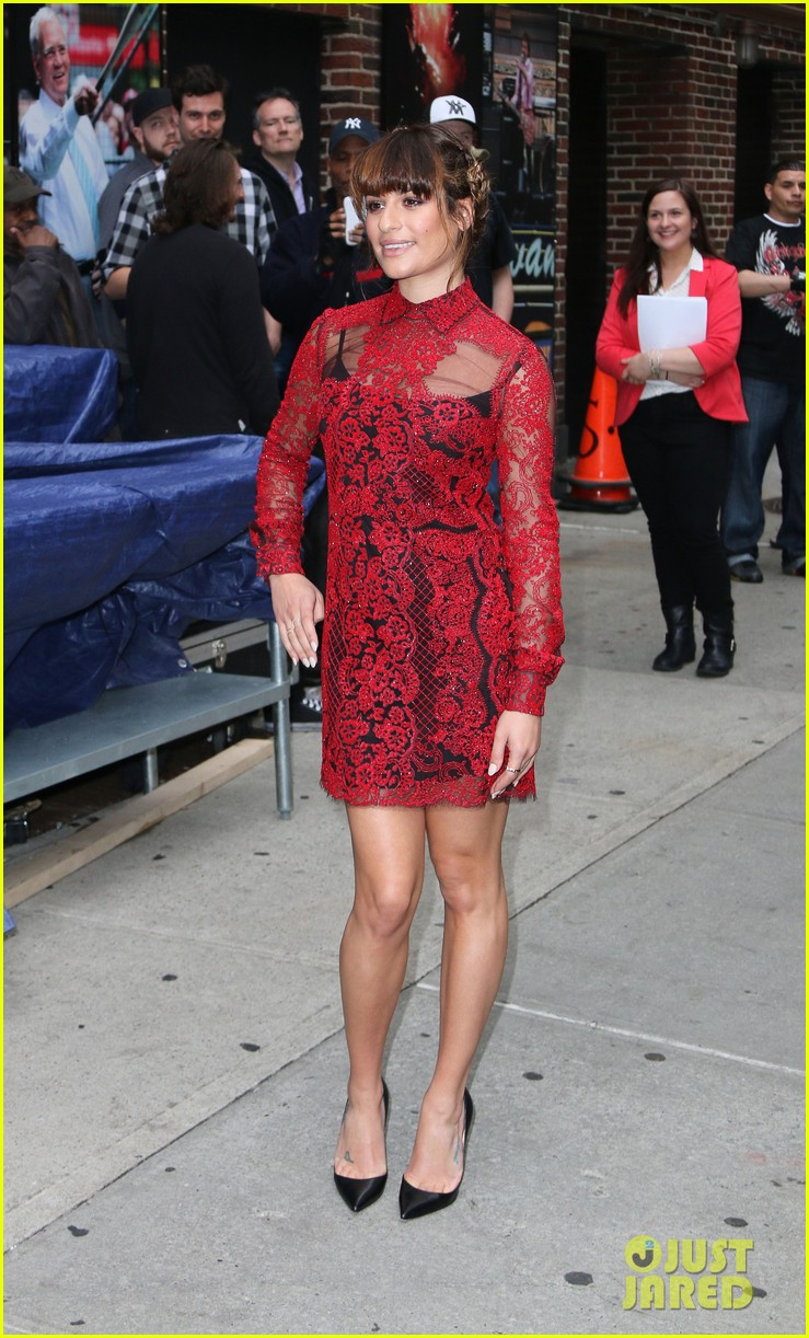 lea michele late show with david letterman 05