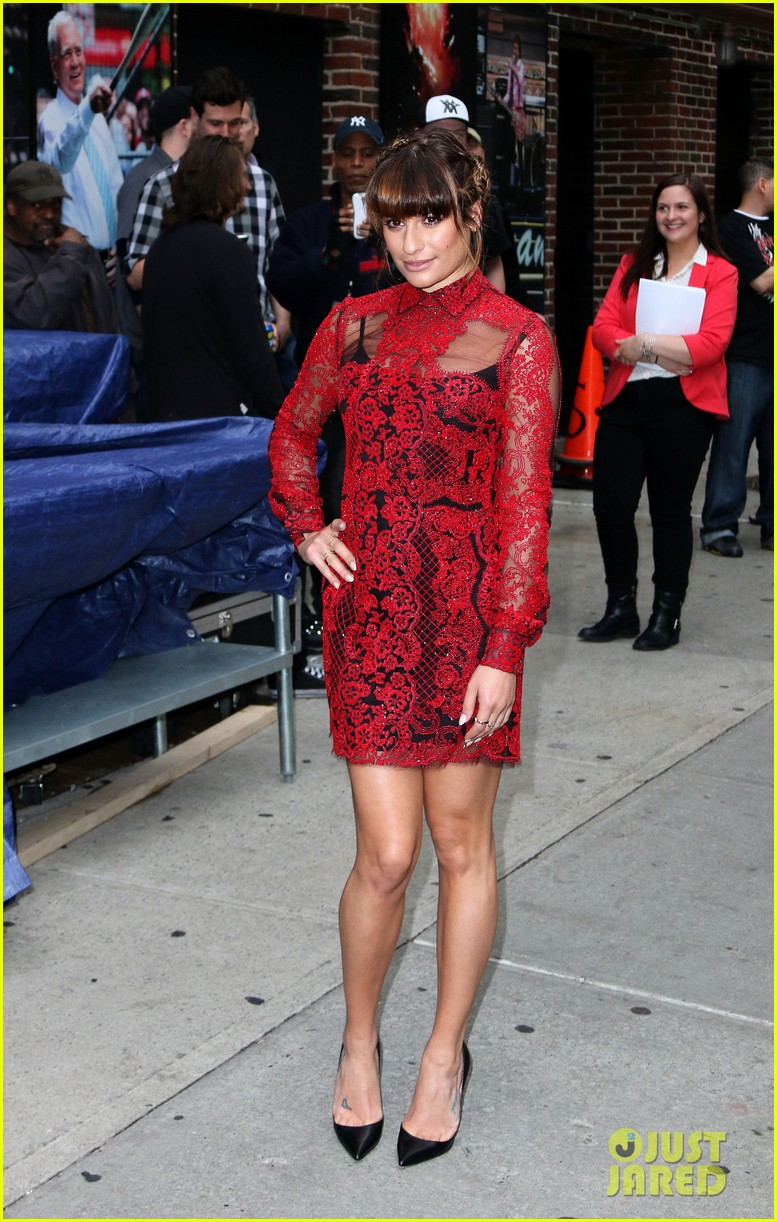 lea michele late show with david letterman 06