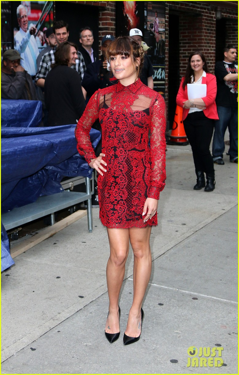 lea michele late show with david letterman 083114453