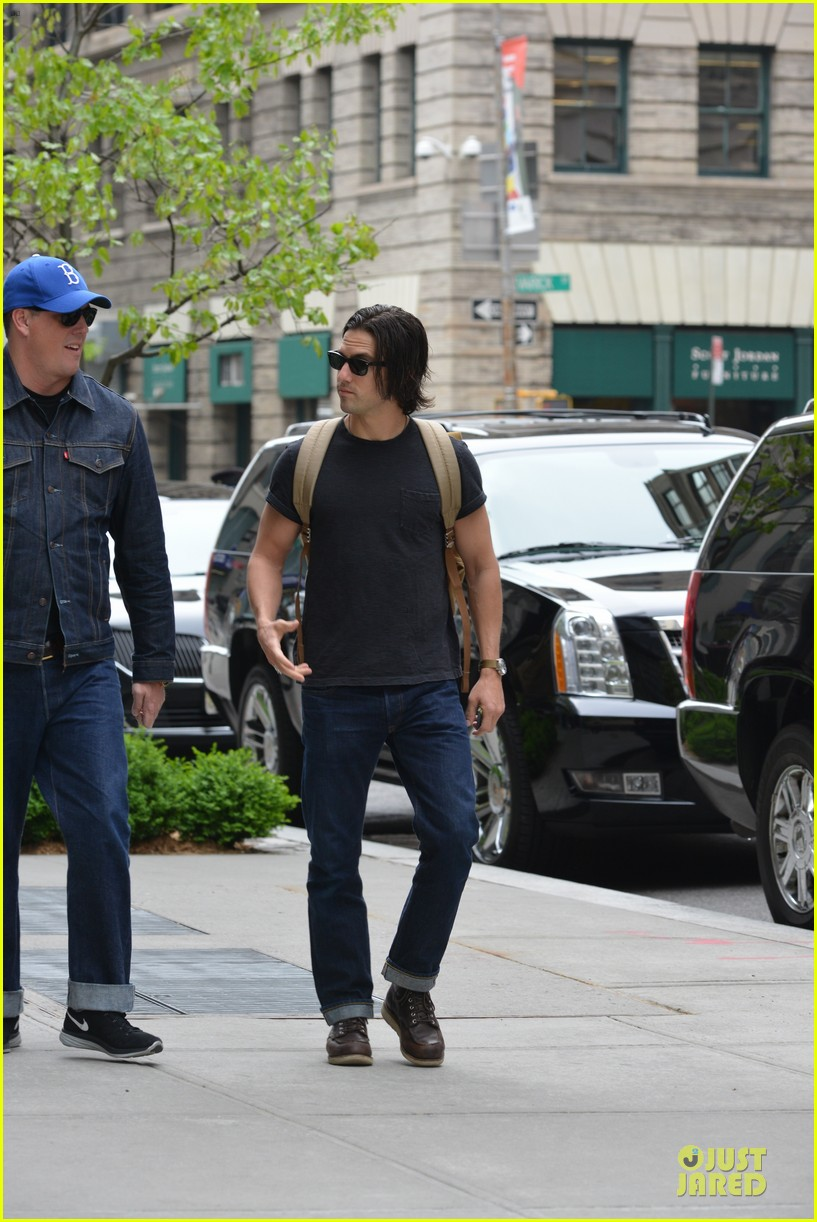 milo ventimiglia muscles in a tee in nyc 043115312