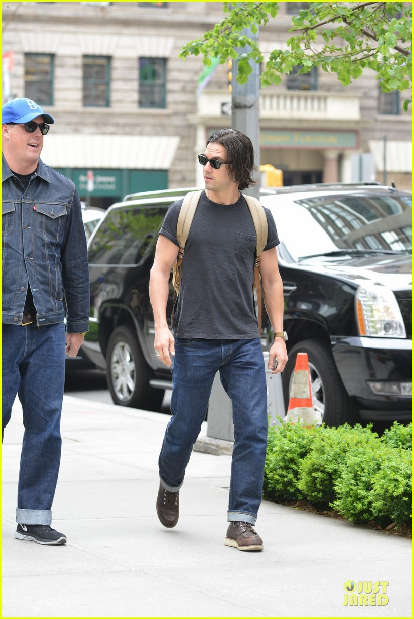 milo ventimiglia muscles in a tee in nyc 123115320