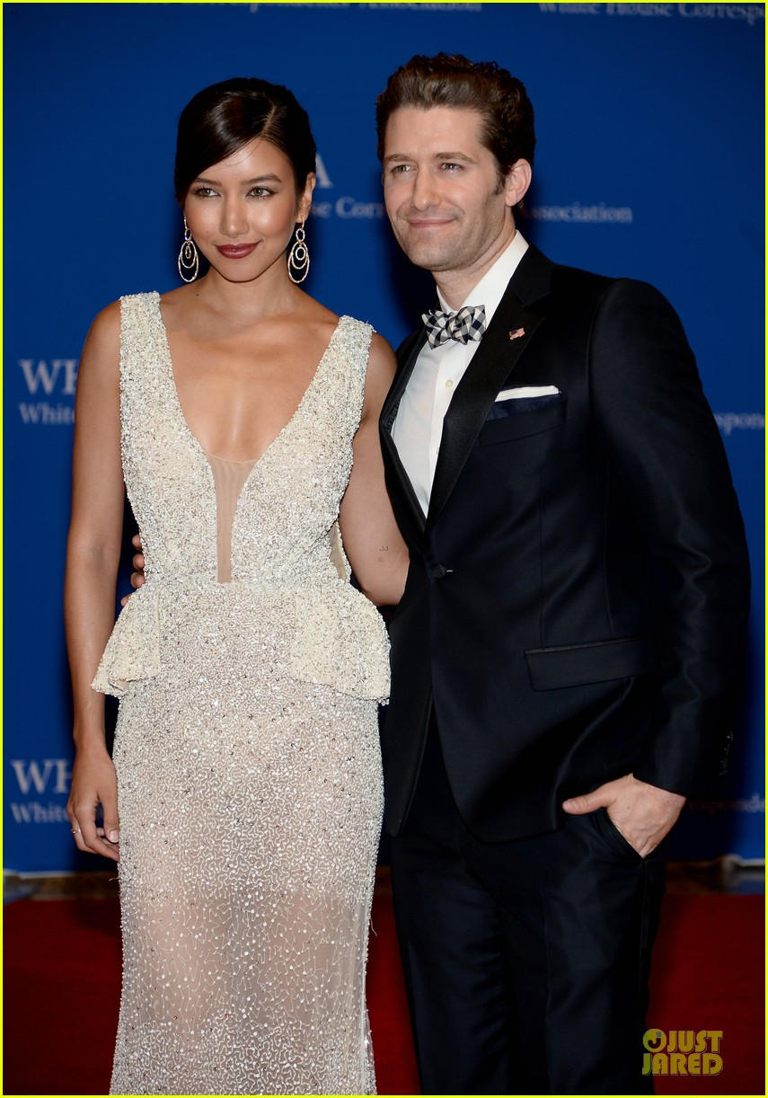matthew morrison renee puente white house correspondents dinner 2014 02