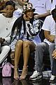 rihanna cheers on lebron james at nets heat game 09