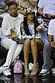 rihanna cheers on lebron james at nets heat game 11