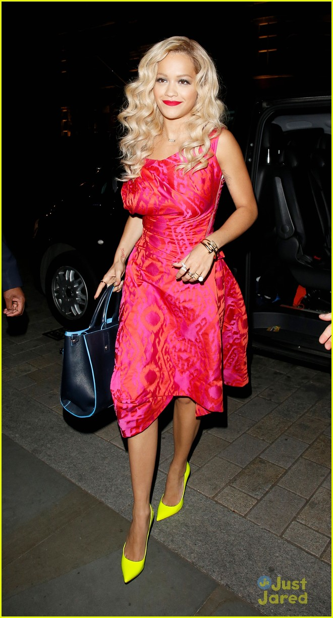 rita ora basket flowers pink dress 19