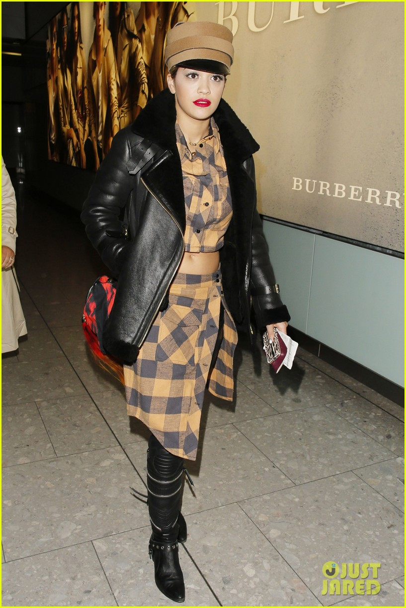 rita ora red bombshell paris 11