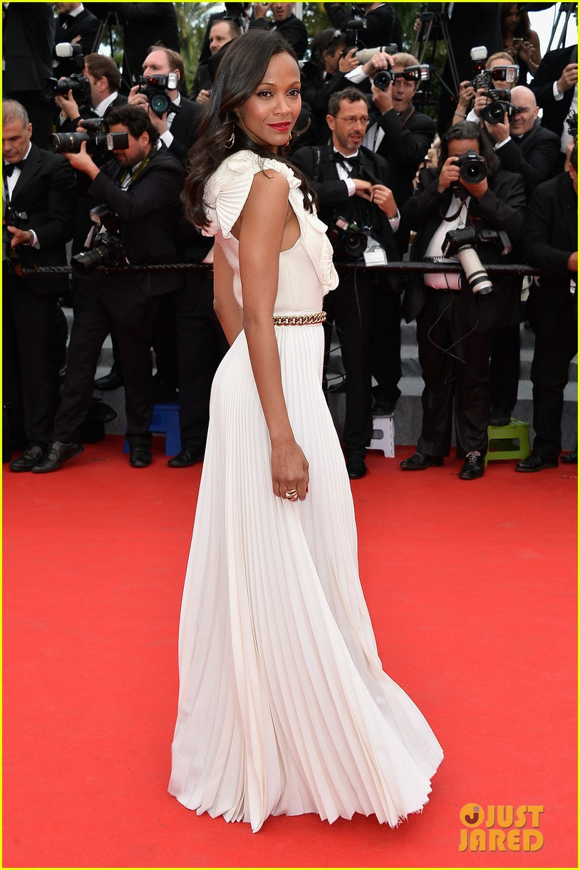 zoe saldana ziyi zhang epitomize class at cannes opening ceremony 053113209