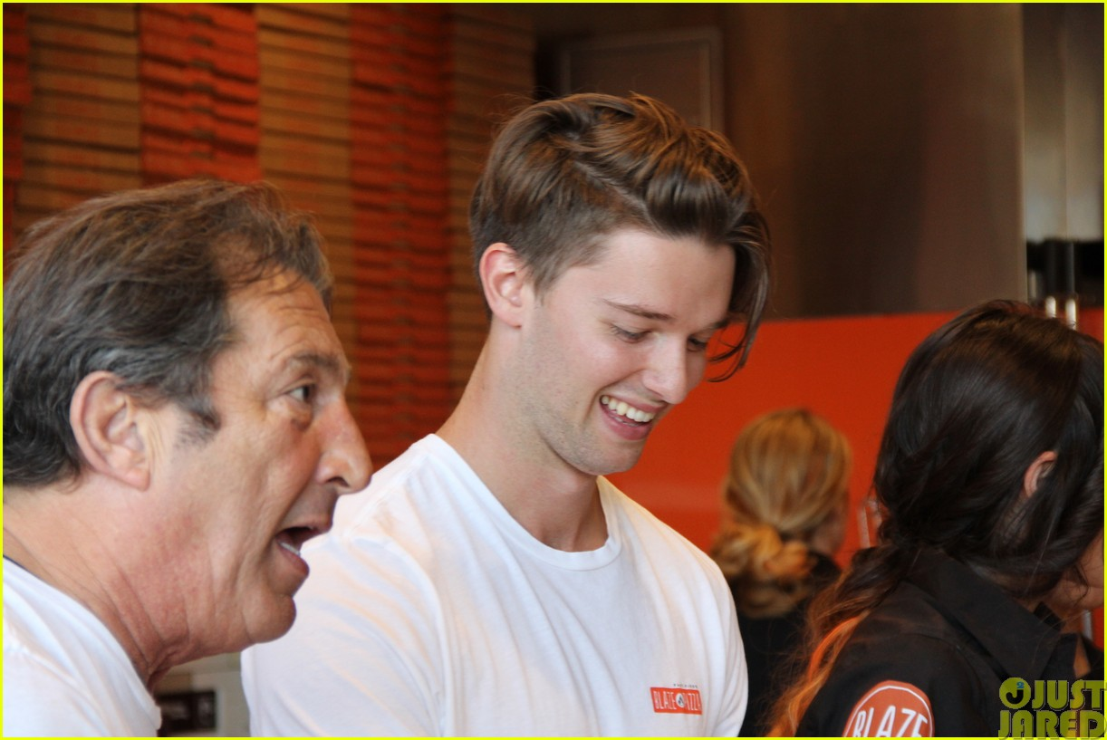 patrick schwarzenegger celebrates the opening of blaze pizza with family and friends01
