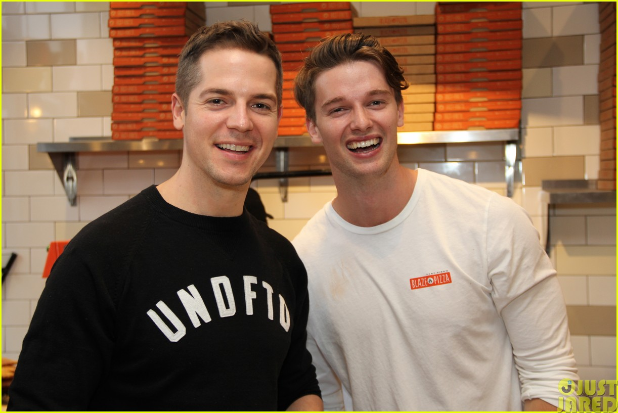 patrick schwarzenegger celebrates the opening of blaze pizza with family and friends05