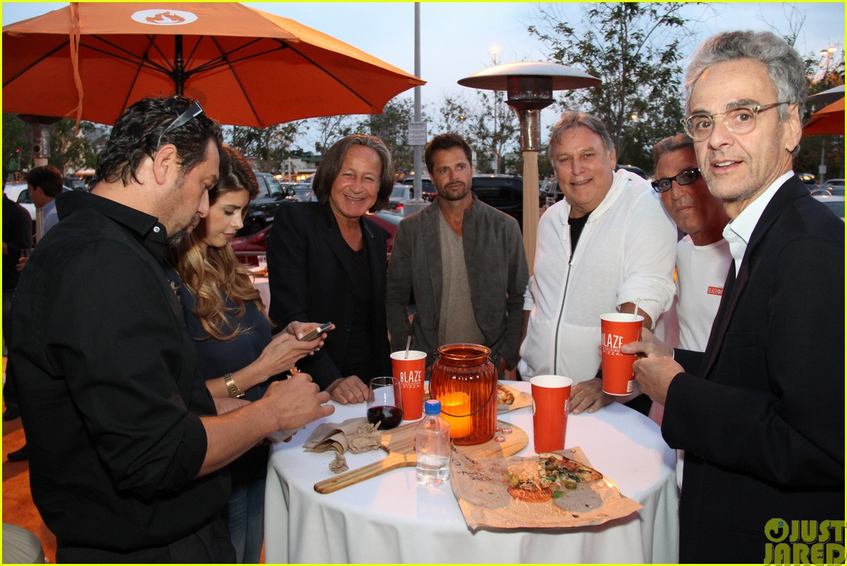 patrick schwarzenegger celebrates the opening of blaze pizza with family and friends24