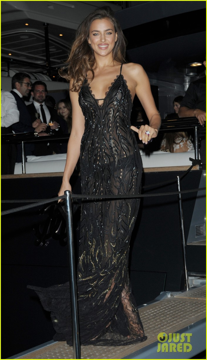 irina shayk green goddess at search premiere cannes 203119648