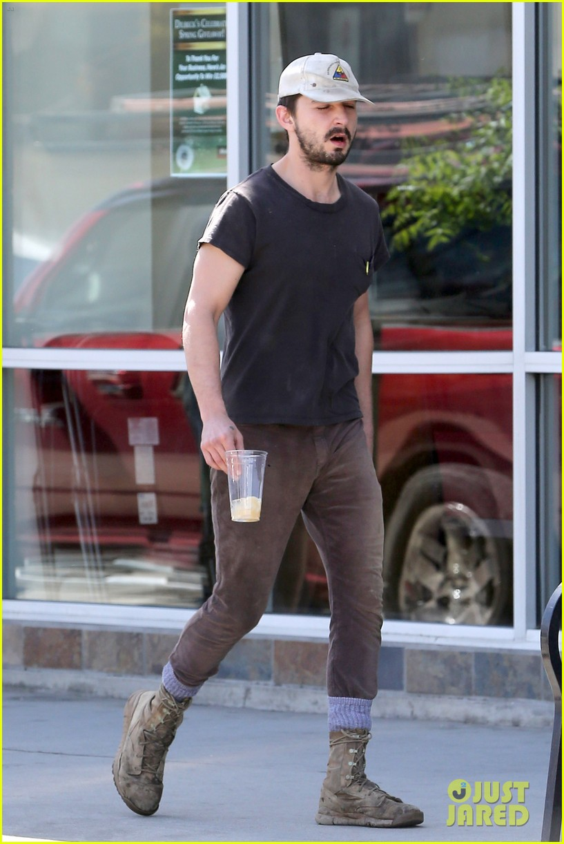 shia labeouf gives us a quick peek at his bare torso 033102989
