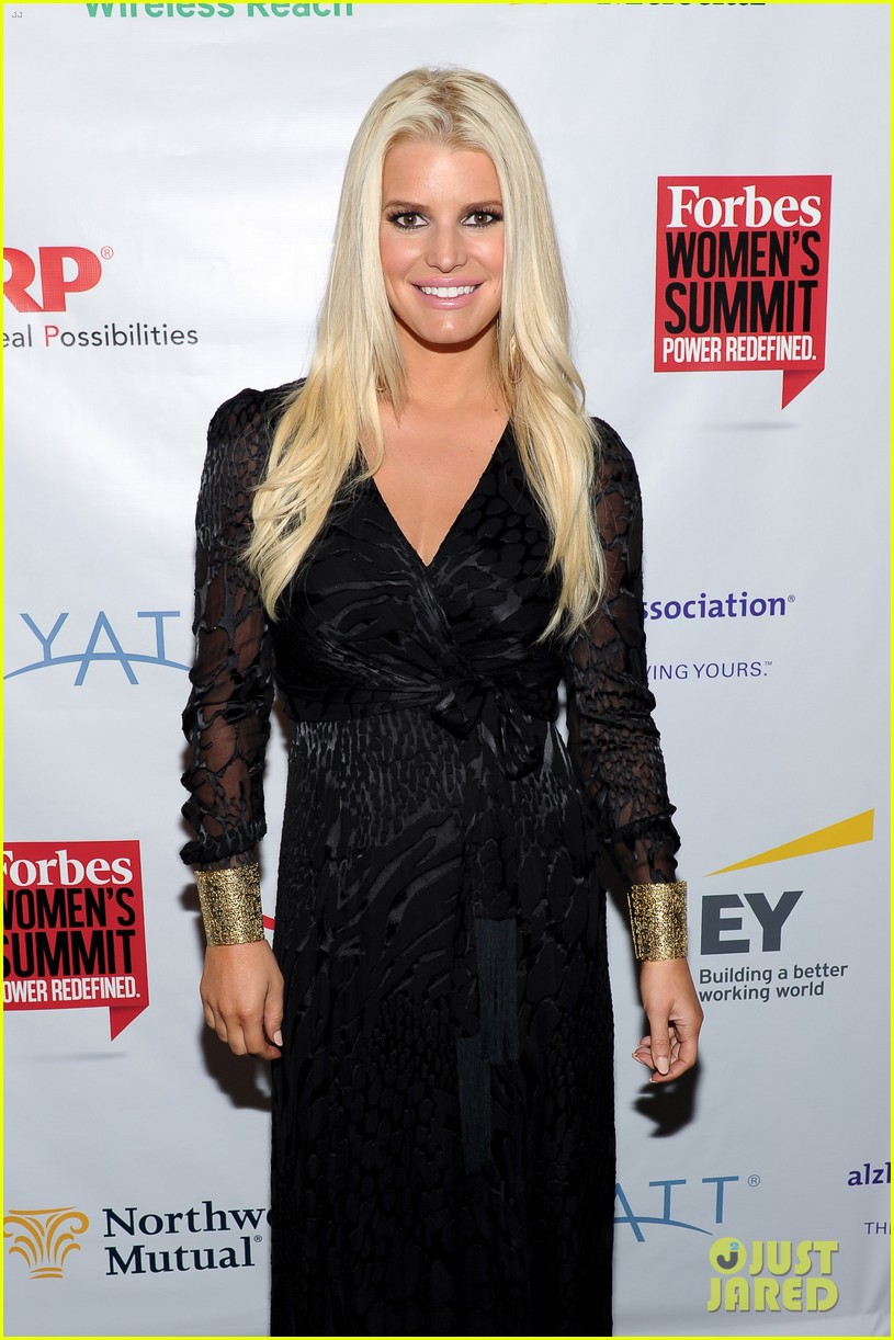 jessica simpson stunning slim forbes womens summit 05