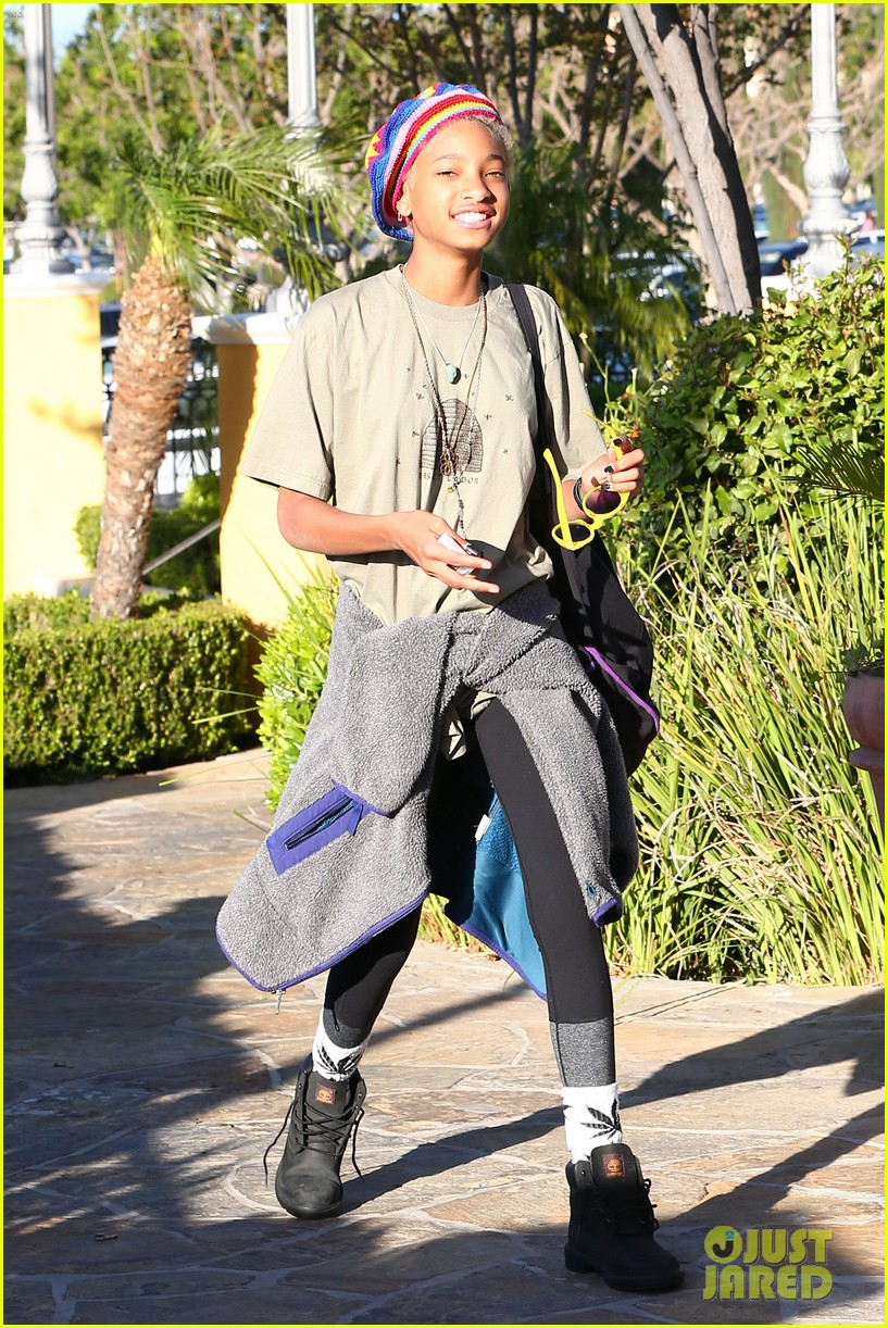 willow smith wears socks with marijuana leaf on the front 173102964