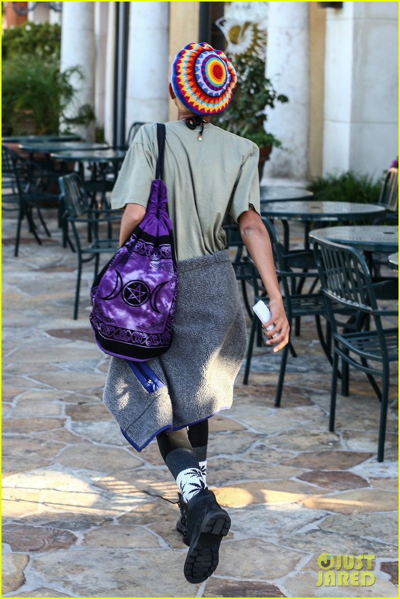 willow smith wears socks with marijuana leaf on the front 253102972