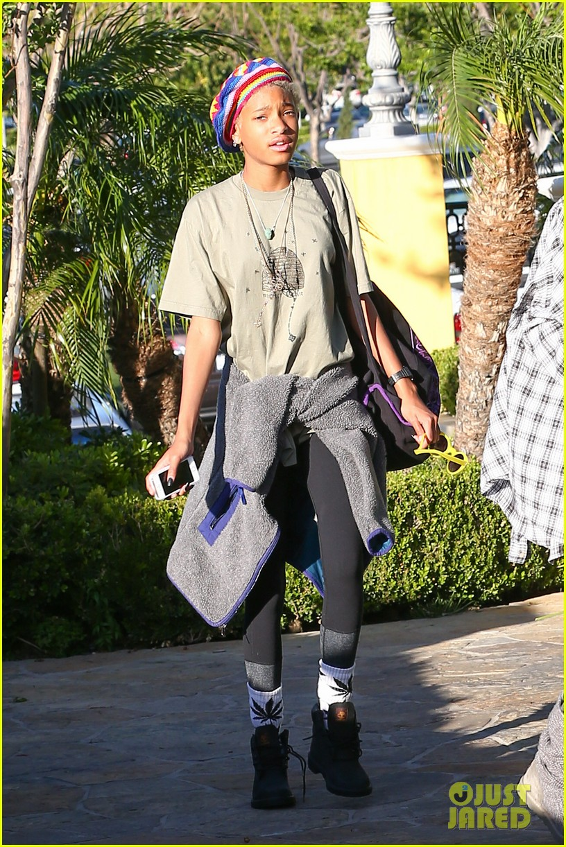 willow smith wears socks with marijuana leaf on the front 28