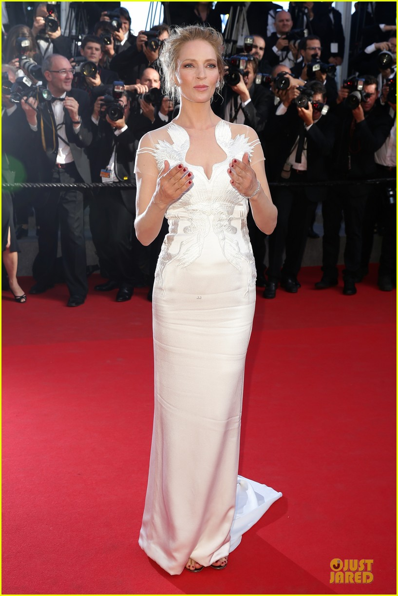 uma thurman adrien brody cannes closing ceremony 083121245