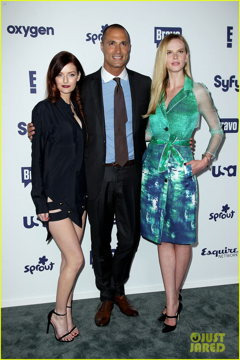 aaron tveit piper perabo usa nbcuniversal upfronts 05
