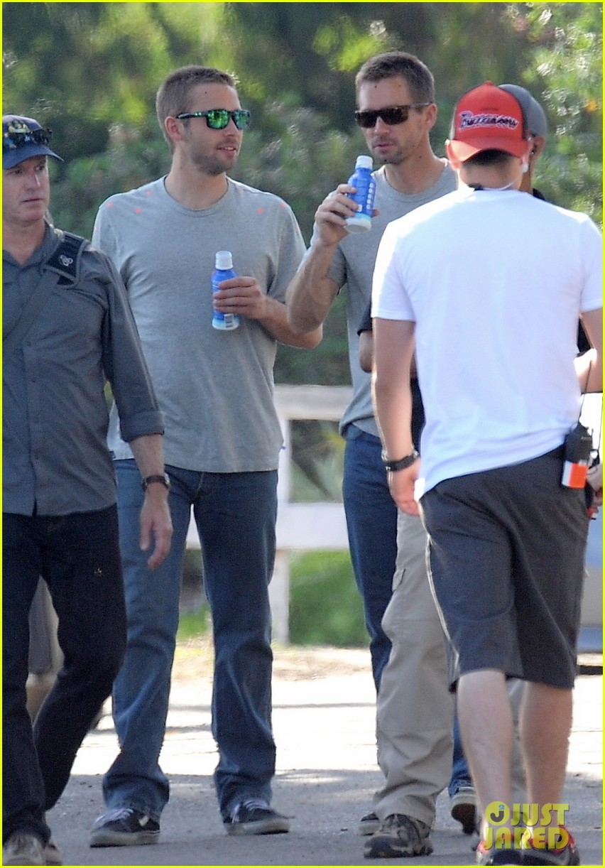 paul walker lookalike brothers spotted fast furious set 11