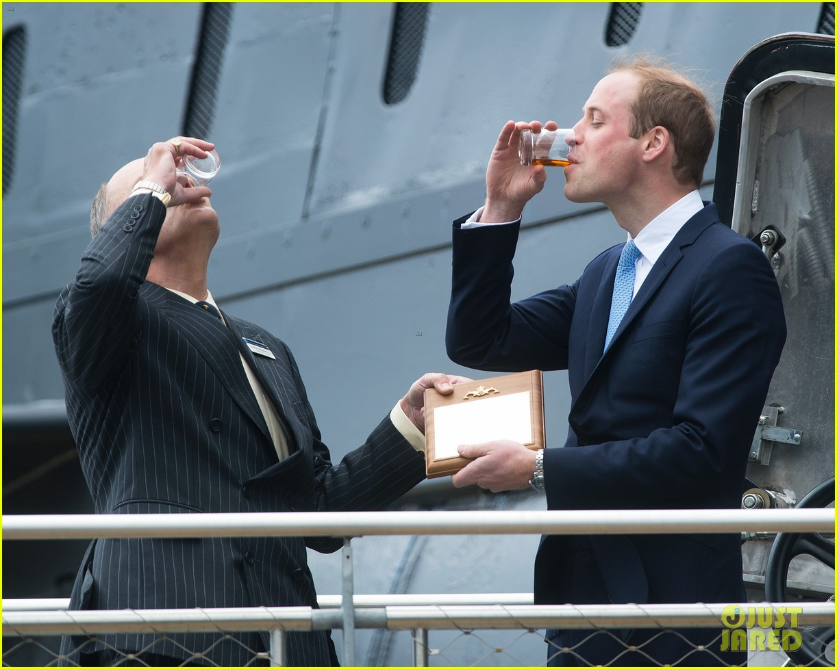 prince william knocks back scotch at royal navy museum 08