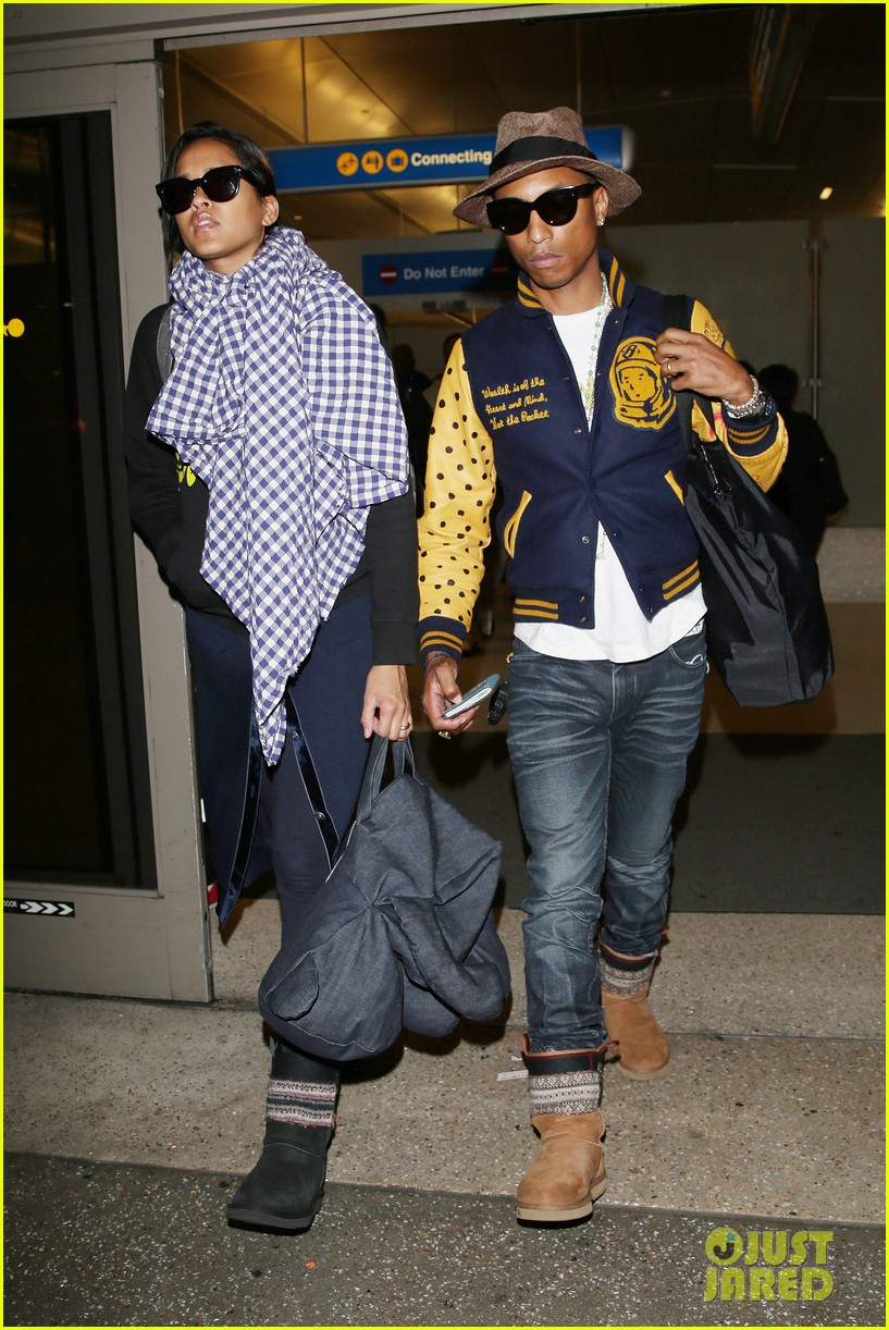 pharrell williams wife helen lasichanh look oh so serious 123124166