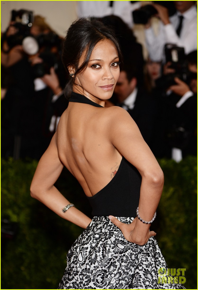 zoe saldana 2014 met ball red carpet 033105954