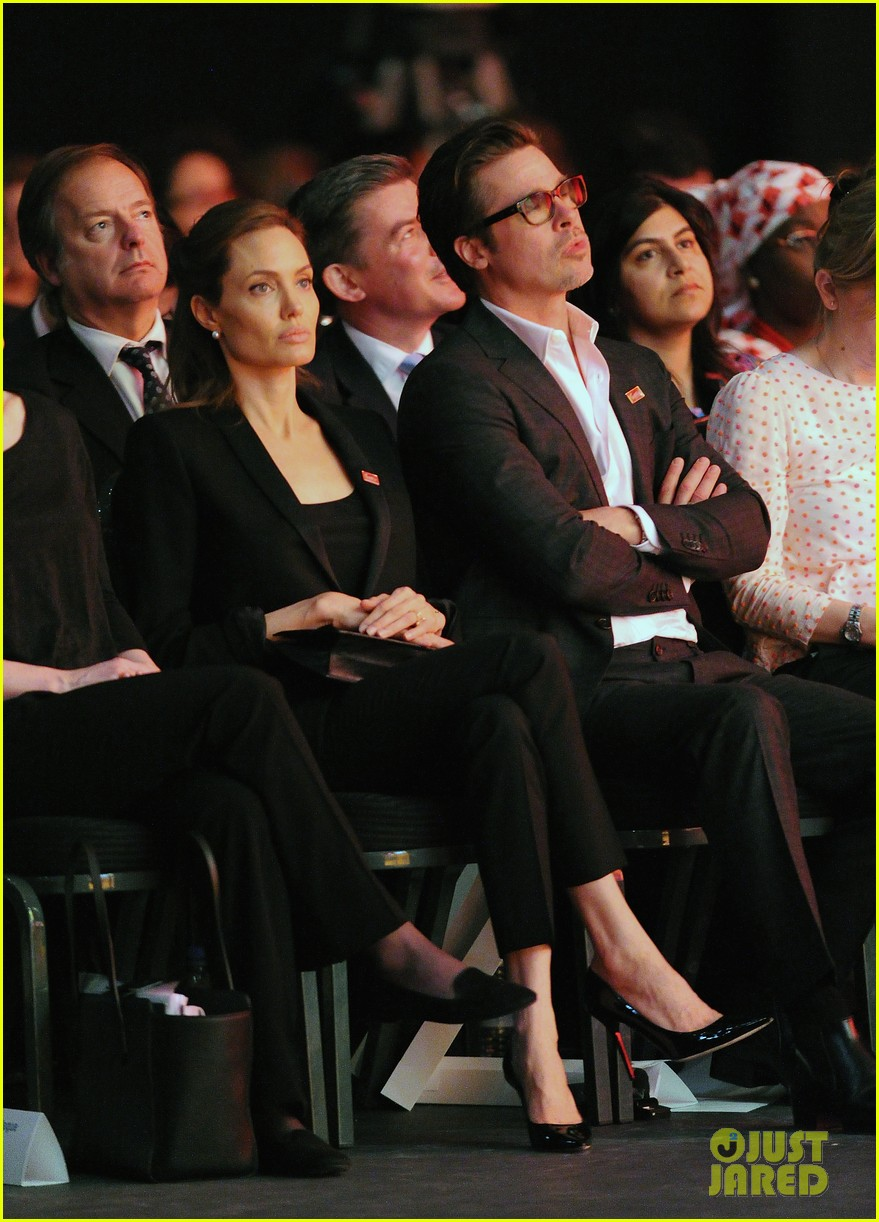amal alamuddin brad pitt angelina jolie anti rape summit 09