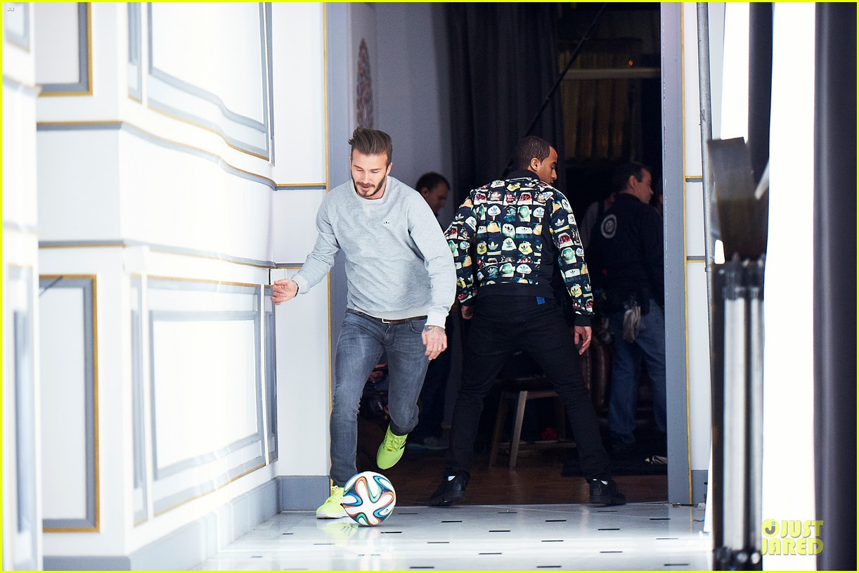 david beckham plays soccer match adidas commercial 033130501
