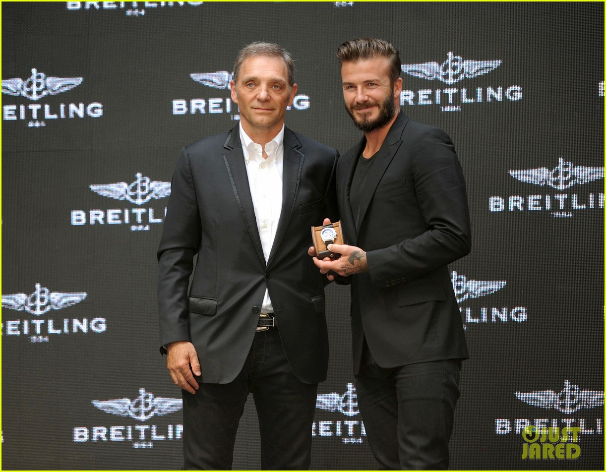 david beckham breitling press conference in beijing 07