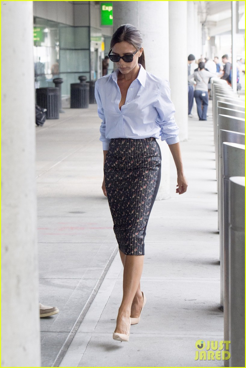 victoria beckham goes business chic for a flight 10