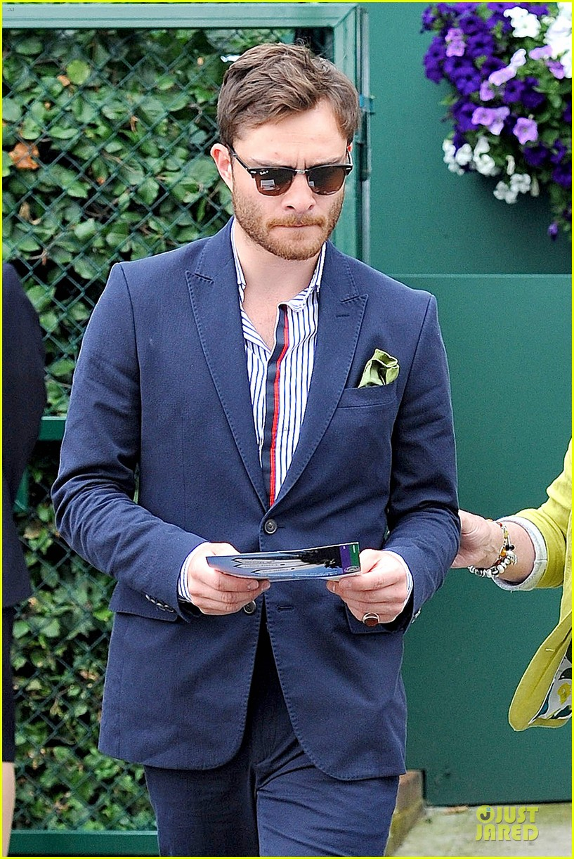 david beckham ed westwick dapper at wimbledon 083145533