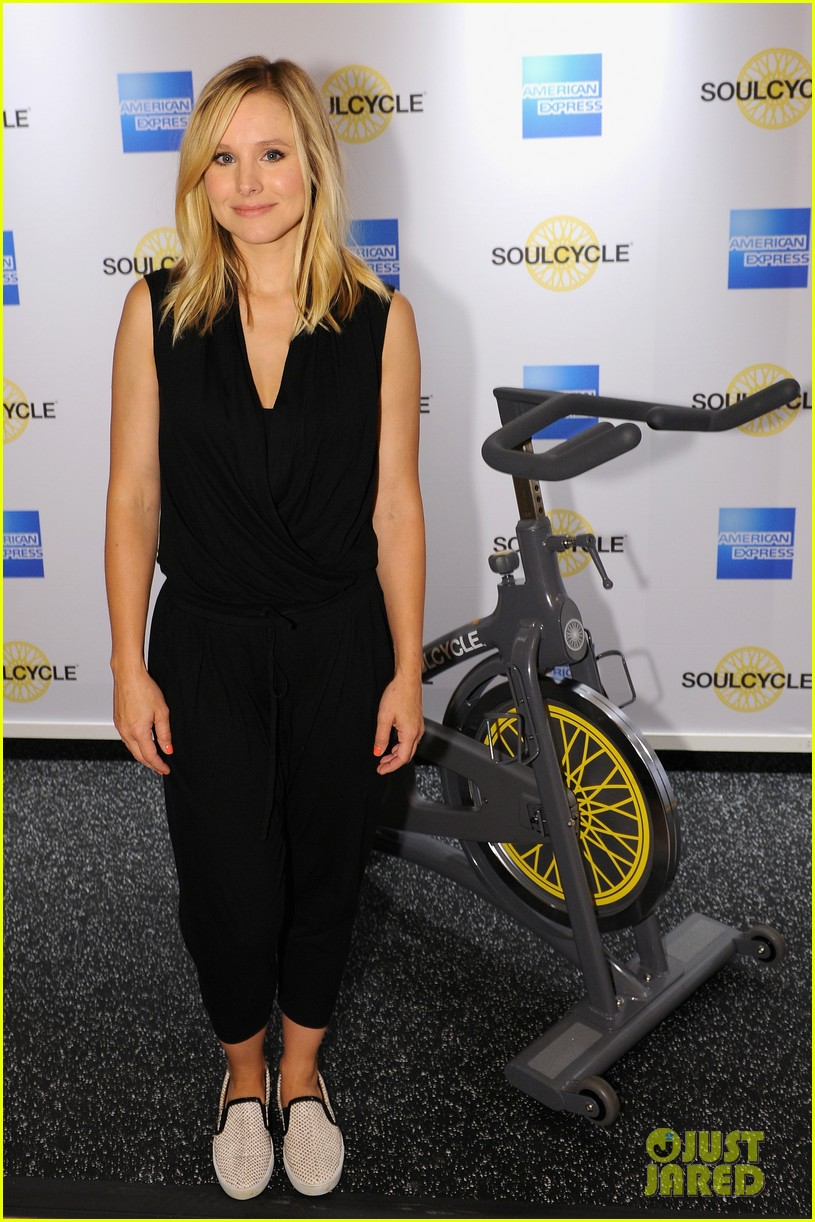 kristen bell soulcycle american express events 04
