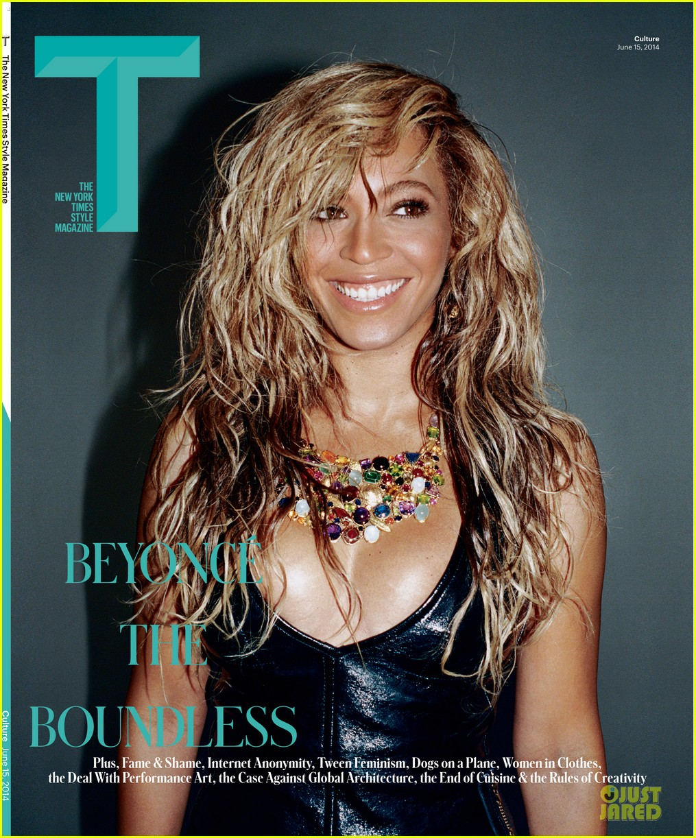 beyonce lets loose for t magazine cover 01