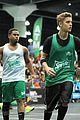 justin bieber chris brown bet celeb basketball game 35