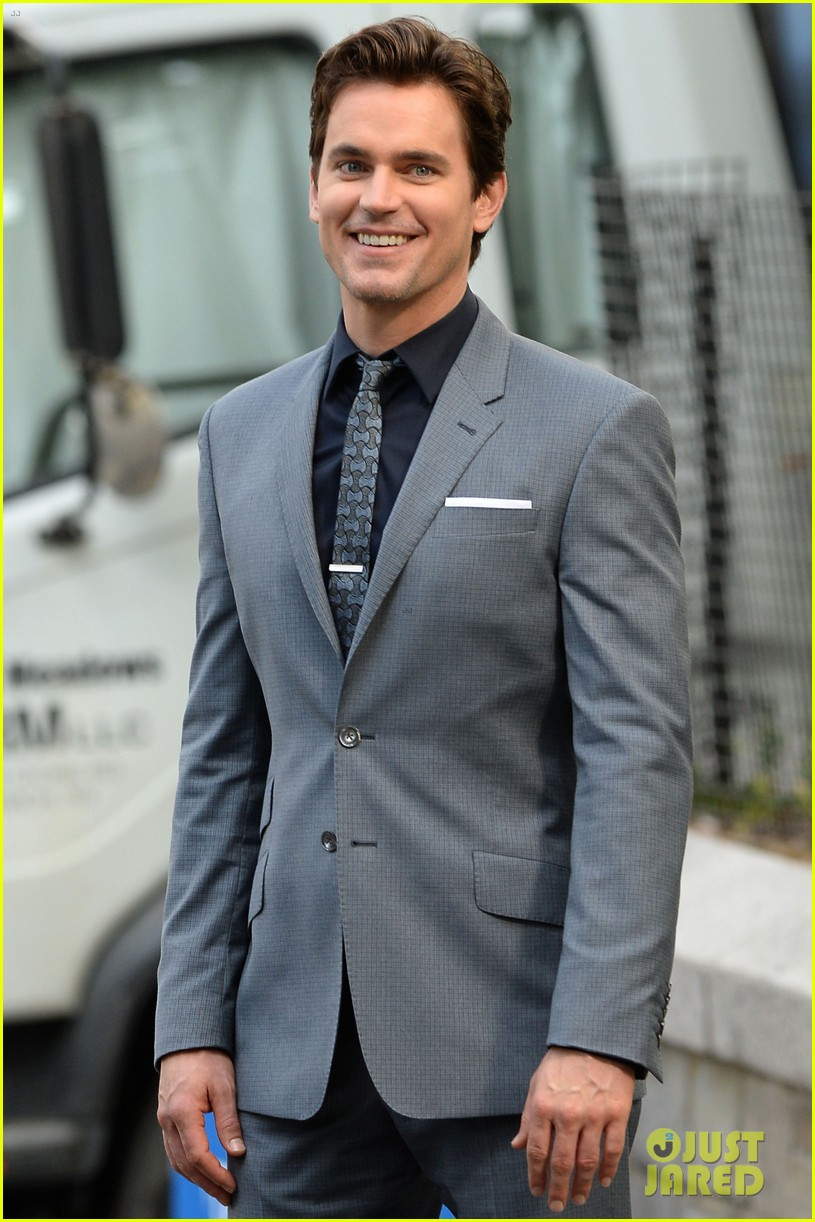 matt bomer beautiful smile lights up white collar set 013147078