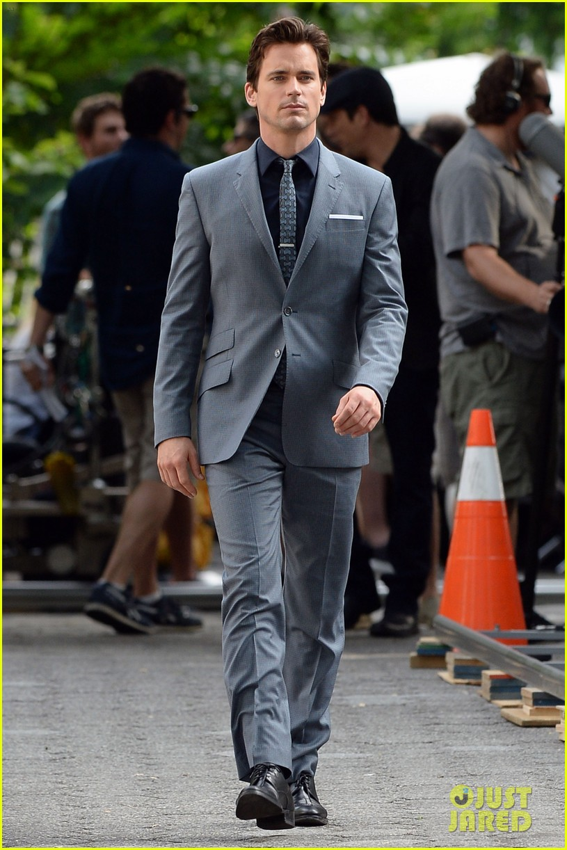matt bomer beautiful smile lights up white collar set 023147079